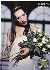 Marilyn Manson  Rage Against The Machine   Mini Poster / Picture (ME49)