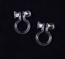 3 Pairs INVISIBLE CLIP-ON EARRINGS findings, post converter or DIY