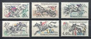 33288) CZECHOSLOVAKIA 1978 MNH** Horse races 6v