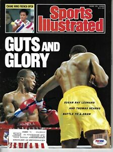 Sugar Ray Leonard Signed Sports Illustrated Magazine 6/19/89 PSA DNA COA