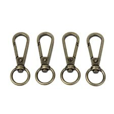 4Pcs Antique Metal Lobster Clasps Swivel Trigger Clips Snap Hook Bag Key Ring