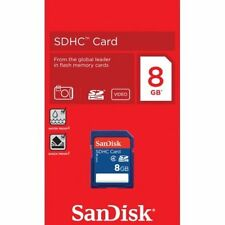 New SanDisk 8GB SDHC Class 4 SD Flash Memory Card Camera 8 G GB SDSDB-008G-B35