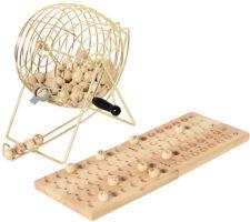 BINGO-SPIEL Bingospiel Bingotrommel Metall Holz 25 aus 75 Glücksspiel Lotto NEU