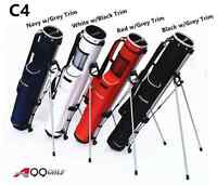 C4 A99 Golf Range Sunday Pencil Carry Bag Removable Top Cover with stand