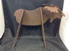 Vintage Moose Figurine Sculpture Cut Iron Rustic Home & Cabin Decor