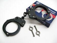 SMITH & WESSON S&W Chain Link Model 100 Blued BLACK Handcuffs + Keys! 350101