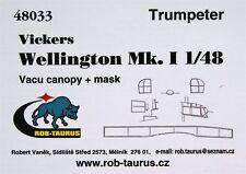 Rob Taurus 48033 1/48 Vacform Canopy Vickers Wellington Mk.I - set includes mask