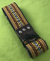 Vintage Guitar Strap NEW OLD Stock Ace Style Hippie Hootenanny Woodstock Dylan