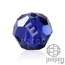72pcs Round Crystal Loose Spacer Beads Facted Jewelry Findings Cobalt 8mm PW