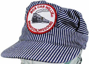 VTG 80s BOX CAR WILLIE Kids Conductors CAP Made In USA ! Branson Country Singer