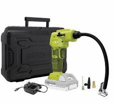 Sun Joe 24V iON+ Cordless Portable Air Compressor Kit 2.0-Ah Battery Charger NEW