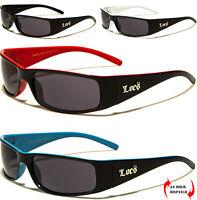 Mens Women LOCS Sunglasses Sports Gangster Glasses Biker Dark Black Shades UV400