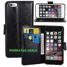 BLACK Wallets PU Leather Case with Card Slots&clip for Apple iPhone 6Plus/6SPlus