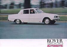 ROVER 2000 AUTOMATIC P6 British Car Classic Limousine Prospekt Brochure