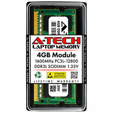 A-Tech 4GB PC3-12800 Portátil Sodimm DDR3 1600 Mhz de memoria RAM PC3L 4G 1.35V DDR3L