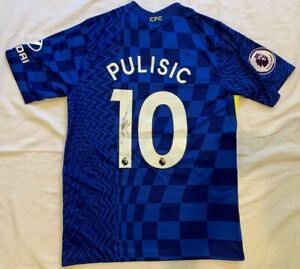 Christian Pulisic signed 2021-22 Chelsea FC soccer jersey #10 Team USA *PROOF*