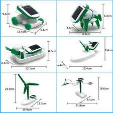 6 En 1 Energie Solaire Éducatif Bateau Ventilateur Voiture Robot Jouet Cadeau NF