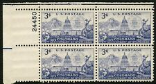 #1001 3c Colorado Statehood, Plate Block [24450 UL], Mint **ANY 4=FREE SHIPPING*