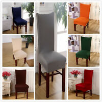 Dining Room Banquet Chair Cover Party Wedding Stretch Seat Cover Home Decor Hot
