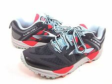 BROOKS WOMEN'S CASCADIA 11 RUNNING SHOES,ANTHRACITE/HIBISCUS/BLUE,US SIZE 8 M