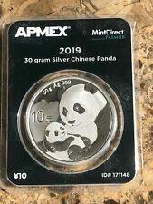 2019 30 gram Chinese silver Panda APMEX TEP Tough Date!