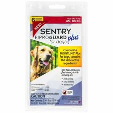 Sentry Fiproguard Plus For Dogs 45-88 Lbs Topical Flea & Tick Treatment 6 Count