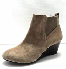 Women's Brown Suede Sole Society 'SO-ADDISON' Ankle Wedge Boots Size 8B