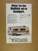 1978 Fleetwood Taurus Travel Trailer photo vintage print Ad