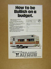 1978 Fleetwood Taurus Travel Trailer photo vintage print Ad