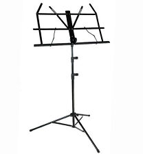 D'Luca Folding Music Stand with Carrying Bag Black