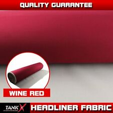Wine Red Sagging Replacment Headlining Fabric Foam Backing Trimming DIY 48