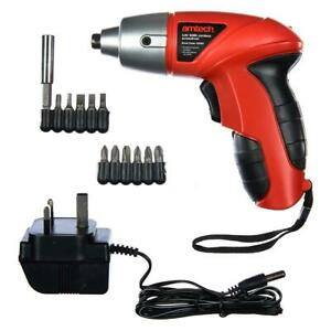 3.6V Electric Rechargeable Battery Cordless Screwdriver Drill Set Bits