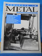 Projects In Metal 1993 April Micro drilling milling spindle Faceplates for gap b