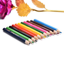 12X Colors Wooden Pencils Pen Drawing For Kids Student Sketching Gift Set 8cm Hp