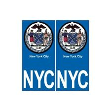 New-York City NYC ville monde sticker autocollant plaque immatriculation droits