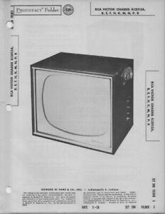1958 RCA VICTOR Kcs113A TELEVISION SERVICE MANUAL PHOTOFACT B E F H K M N P R