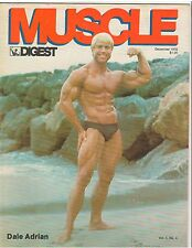 Rare MUSCLE DIGEST bodybuilding 4th ISSUE magazine/Dale Adrian/w poster 12-76