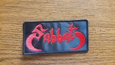 SABBAT,SEW ON RED EMBROIDERED PATCH