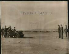 1943 Press Photo Pres. Roosevelt in jeep during scroll-giving ceremony in Malta