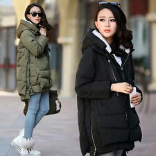 women winter down cotton thick long coat maternity snow jacket trench outwear