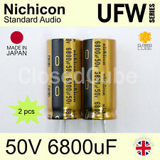 (2pcs) Nichicon UFW Standard 50V 6800uF Audio Capacitors UFW1H682MRD