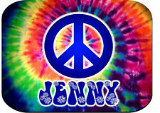 PERSONALIZED MOUSE PAD TIE DYE HIPPIE PEACE