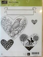Stampin Up TAKE IT TO HEART clear mount stamps Bird Cherry blossom kids banner
