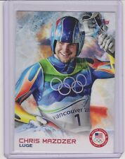 2014 TOPPS OLYMPIC CHRIS MAZDZER CARD #60 ~ FIRST LUGE MEDAL EVER!!! ~ MULTIPLES
