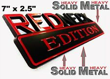 SOLID METAL Redneck Edition BEAUTIFUL EMBLEM Ford Truck Bumper Decal Badge