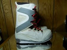 Nike Zoom Kaiju Snowboarding Boots Snowboard White Red 376276-110 Rare Sz 9
