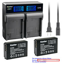 Kastar Battery LCD Rapid Charger for Canon LP-E12 LC-E12 Canon PowerShot SX70 HS