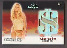 2020 Benchwarmer Sin City Swatch Silver Foil Cassandra Lynn 3/7