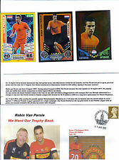 robin van persie manchester united first day cover and holland match attax cards