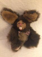 Kimbearly's Originals Plush Rabbit Buck NO IE/1214 Resin Face Bunny Rabbit